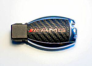 Mercedes-W164-ML-AMG-SL-500-R230-W211-W212-W207-Carbon-key-sticker-with-RED-AMG