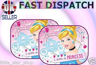 2x Disney PRINCESA 2 Niño Bebé Niños Niña Ventanilla Del Coche Parasoles 44x35cm