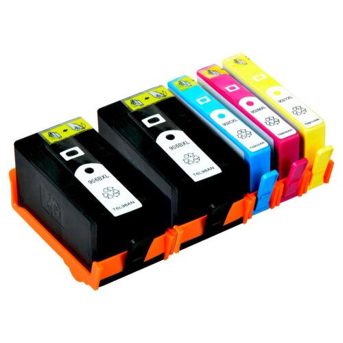 1C+1Y+1M For HP OfficeJet Pro 6960 6968 6970 6974 5PK Ink Cartridge 906XL BK