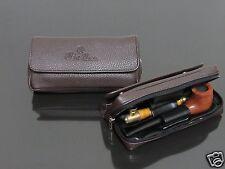 Brown BIGBEN PORTABLE SMOKING TOBACCO PIPE BAG FOR 2 PIPE(no pipe) #528