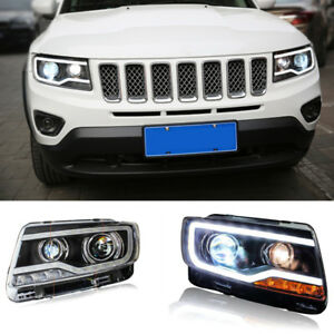 for jeep compass 14 15 led drl hid xenon projector. Black Bedroom Furniture Sets. Home Design Ideas