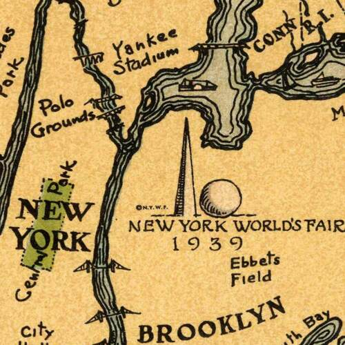 New Yorker/'s Idea of the United States of America Vinatge Old USA MAP circa 1939