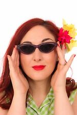 Vintage deadstock frosted purple cat eye sunglasses rockabilly retro pin-up