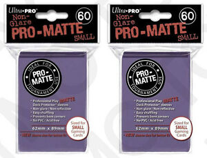 120-Ultra-Pro-Pro-Matte-Small-Mini-Deck-Protector-Card-Game-Sleeves-84269-Purple