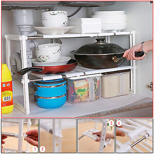 Merveilleux Image Is Loading KITCHEN ORGANIZER UNDER SINK SHELF STORAGE UNIT SPACE