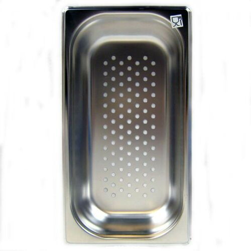 Gastronorm Behälter GN-Behälter Edelstahl GN 1//3 Dampfgarer Zubehör 2,5L gelocht