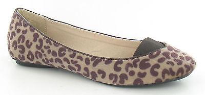Spot on F8841 Ladies Shoe Estampado de Leopardo Rojo o natural (32 A) (Kett)