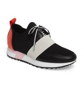 f9046df7dba Details about Steve Madden Antics Sneakers Athleisure Women Shoes  Black/Red/Multi Size 8