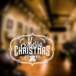Adesivi Buon Natale.Dettagli Su Buon Natale Adesivi Da Parete Barbiere Finestra Natale Insegna Arte Xm4