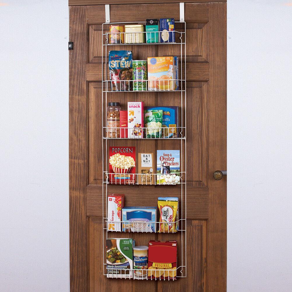 Over The Door Storage Rack Kitchen Pantry Spice Organizer Closet Space Saver Ebay