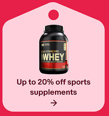 Up to 20% off sports supplements