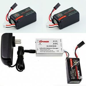 2-X-2500mAh-11-1-V-Battery-For-Parrot-AR-Drone-2-0-Quick-Balance-Charger