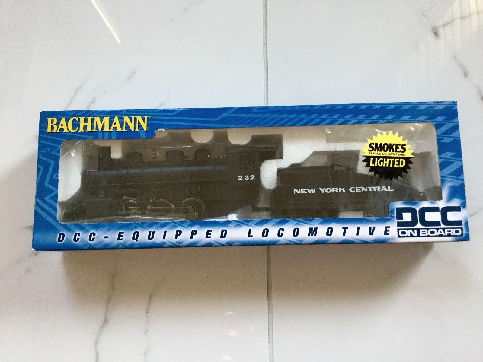 BACHMANN 1 87 HO NEW YORK CENTRAL  232 0-6-0 & TENDER LIGHTED & SMOKE   51605 FS