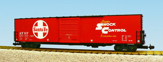 USA Trains G Scale 60 Ft Single Door Box Car R19400A Santa Fe Single Door - rot