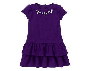 Gymboree Plum Party Gem Textured Dress Purple Size 12-18 months MSRP $45 NWT
