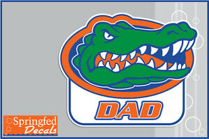 Florida Gators Dad W Gator Head 1 Vinyl Decal Uf Sticker