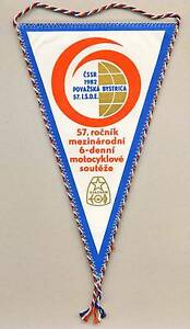 1982-FIM-Six-Days-ENDURO-Motorcycle-PENNANT-ISDE-ISDT-Bystrica-Czechoslovakia