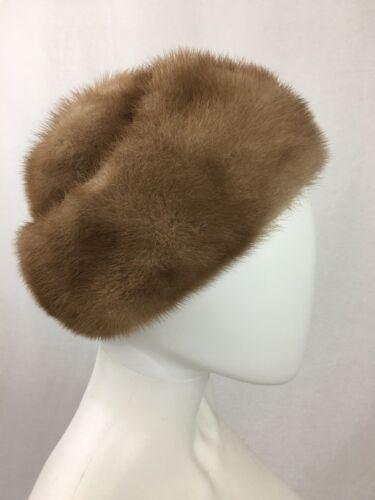 """Vintage  Golden Brown Fur Hat """"Designed by NIKKI"""""""