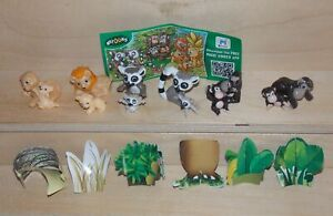 FAMILIES-OF-THE-JUNGLE-COMPLETE-SET-WITH-ALL-PAPERS-KINDER-SURPRISE-2015-2016