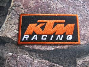 Aufnaher-Patch-Motorradcross-KTM-Race-GT-MX-Tuning-Racing-Motorradsport-Biker-FX