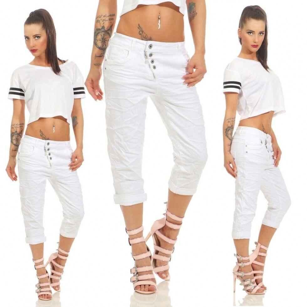 Damen Capri Capri Capri Jeans Sommer Bermuda Shorts Baggy Boyfriend 34 36 38 40 42 weiß   Good Design  91e1db