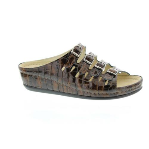 0737 Crocodile Hassel 498 Slipper Brown Brown Berkemann 4nPZBwqt