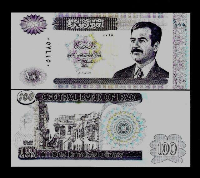 Iraqi Dinars P87 2002 Bundle Saddam
