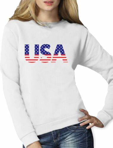 Independence Day American USA Flag 4th of July Gift Women Sweatshirt Patriot