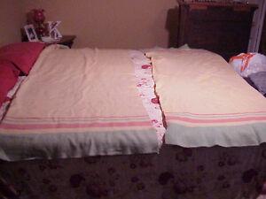 Vintage-Wool-Kenwood-Blankets-55x75-66x80-Pink-Rose-Mint-Green