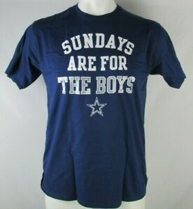 Dallas-Cowboys-NFL-Men-039-s-Fanatics-Navy-Blue-039-Sundays-are-for-the-Boys-039-T-shirt