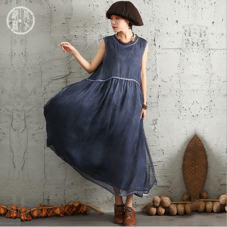 Women Sleeves Long Slip Beach Cotton Gown Caftan Maxi Large Skirt Dress Summer