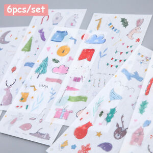 60 Sheet Cartoon Phone Decoration Label Diary Paper Sticker Galaxy Scrapbooking