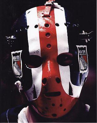 JOHN DAVIDSON VINTAGE GOALIE MASK NHL HOCKEY RANGERS 8X10 PHOTO