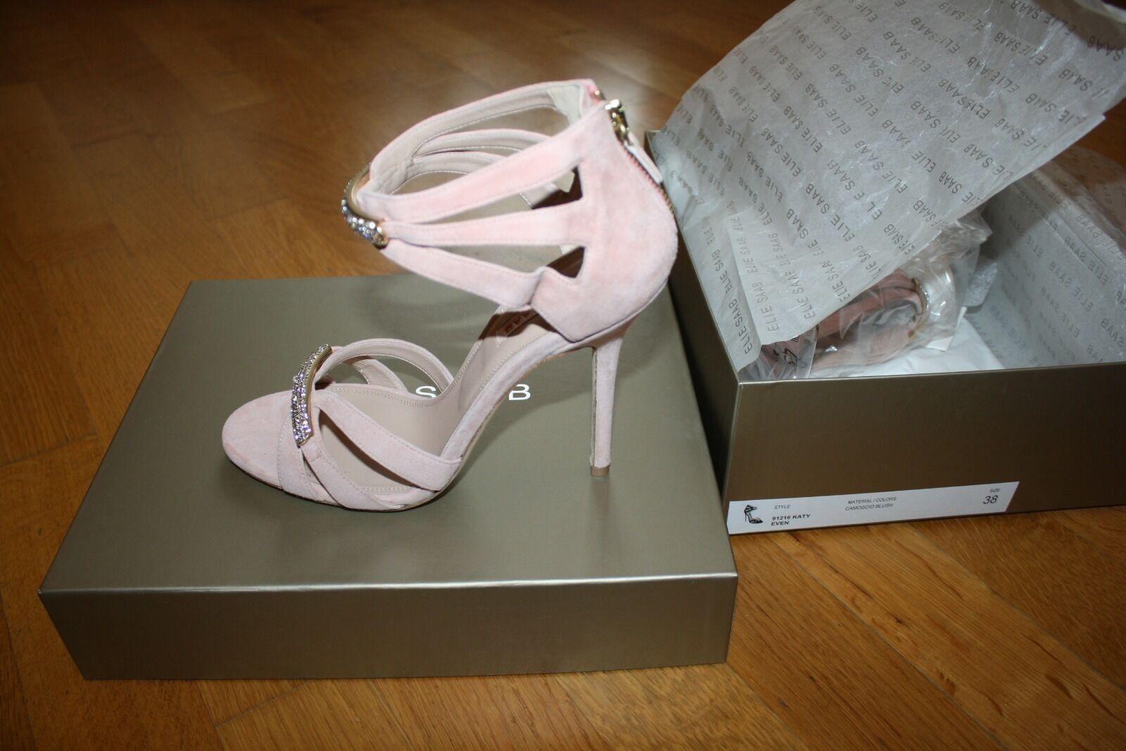 Elie SAAB Blush sandalo in camoscio-taglia 38 38 38 si adatta NUOVO con scatola 11c7b2