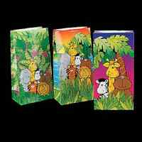 Zoo Animal Paper Bags / Lot Of 12 Bags / Zoo Animal Party (3/147)