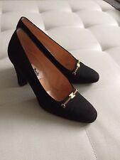 Celine Paris Pumps Satin Schuhe Shoes 6.5 36,5 Vintage
