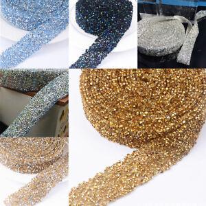 1X-Crystal-Rhinestone-Mesh-Belt-Decal-Embellishment-Decor-Bridesmaid-Dress-Belt