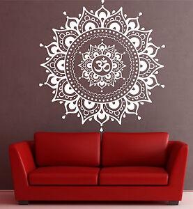 Image Is Loading Mandala Wall Decal Eye Indian Buddha Yoga Fatima