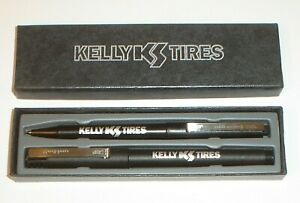 Vintage Kelly Springfield Tires Mechanical Pencil & Pen Set w/ Box Made In Japan