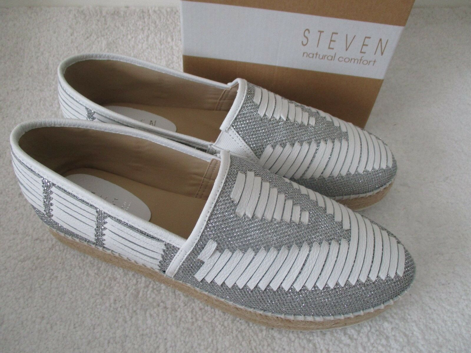 STEVEN WEISS/SILVER NC-CHARM FLAT Schuhe SIZE 9 1/2 M - NEU W BOX