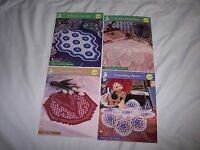 Lot Of 4 House Of White Birches Crochet Patterns Collectible Doily Series 9