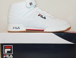 6e99c0e696dc Details about Boys Girls Big Kids FILA F13 PERF Perforated Leather F-13 Mid  Top Casual Shoes