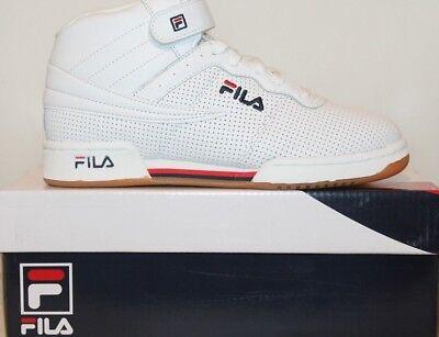 Détails sur Fila Homme F13 F 13 haut en cuir mi haut Casual Classic Basketball Shoes afficher le titre d'origine