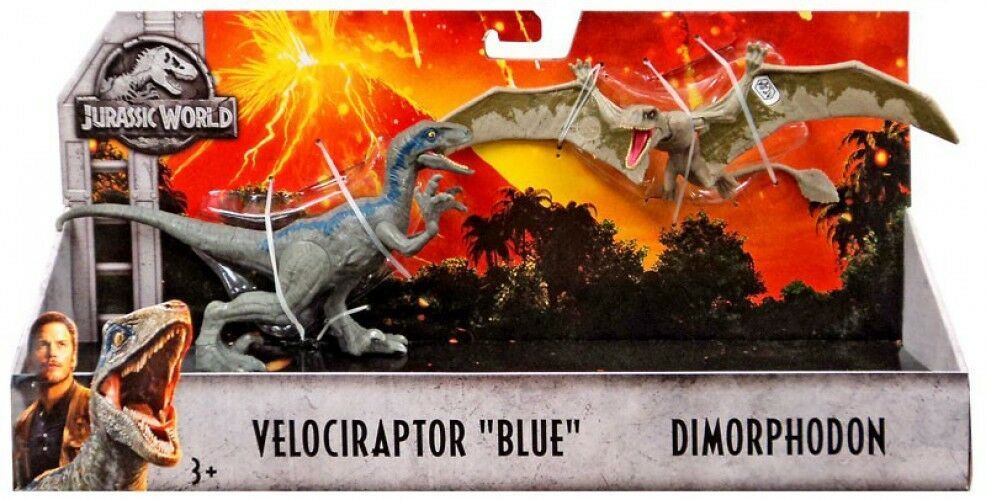 Jurassic World Ftuttien redom Velociraptor blu & Dimorphodon azione cifra