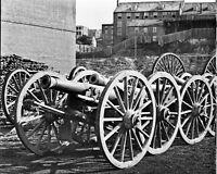 8x10 Civil War Photo: Federal 6 Pound Field Cannon Guns, Model 1841