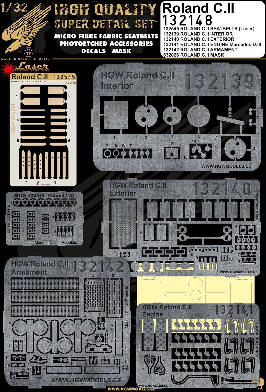 132148 HGW Super Detail set - Roland C.II 1 32
