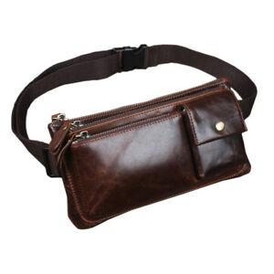3a4882f5eb Details about Borsa Cintura Vita Marsupio Uomo Pelle Annata Viaggio Marsupi  Pochette Bag Pouch