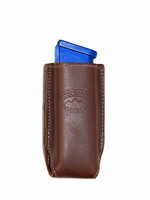 NEW Barsony Burgundy Leather Single Magazine Pouch Ruger Star Full Size 9mm 40