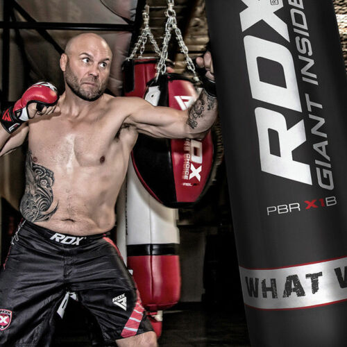 RDX Punching Bag Heavy Kit Punch Boxing Chains Set Hanger Gloves Filled Kick MMA