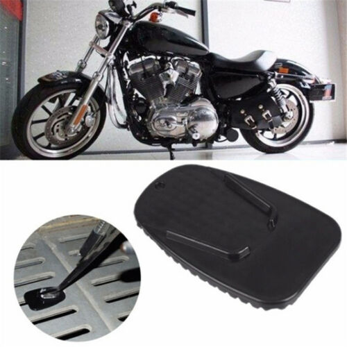 6 Color Motorcycle Kickstand Side Stand Plate Pad Base For Harley Yamaha Honda